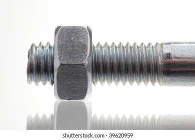 nut and bolt, close-up