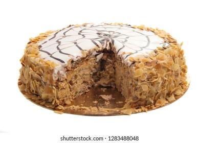 nut cake isolated on white background