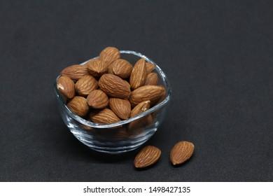 Nut of an unglazed almond