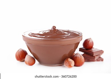 nutella, chocolate spread