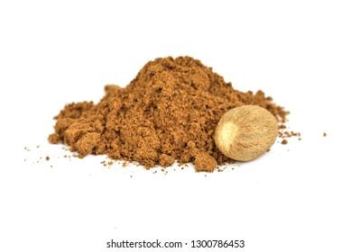 Nutmeg spice - powder and seed