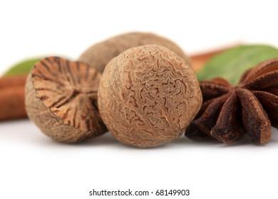Nutmeg and star anise