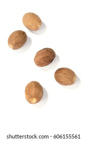 nutmegs isolated on a white background