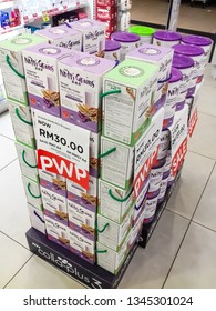 Nutri Grains at top colla-plus3 rack..Sell for Malaysia Ringgit (RM)30 . Watson Drop Store at Tesco Jenjarom.Kuala Langat.Malaysia. 20 March 2019.