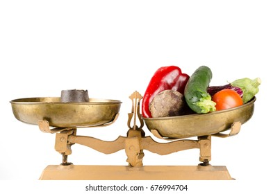 Nutrition balance, a conceptual shot on healthy eating habits