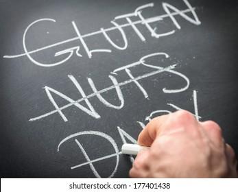 Nutrition concept - restricting diet
