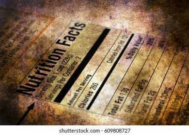 Nutrition facts  grunge concept