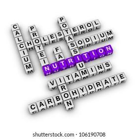 Nutrition Ingredient (cubes crossword series)