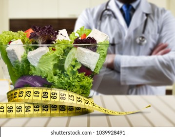 Nutritionist desk with healthy fruit