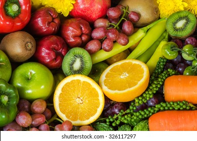 Nutritious Fruits and vegetables for healthy