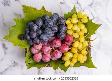 Nutritious vitamin store fresh grape varieties; Purple Grape, Green Grape, Red Grape...