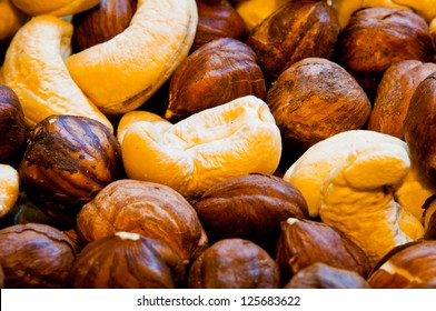 Nuts as background