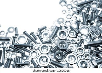 Nuts and bolts closeup