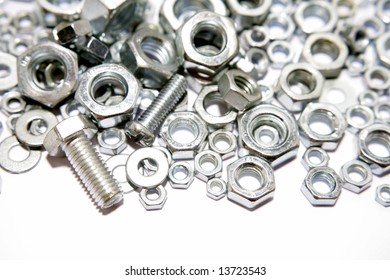 Nuts and bolts closeup
