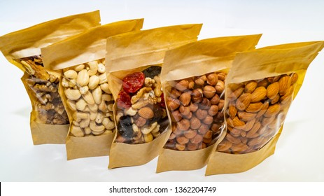 nuts and dried fruits in the package