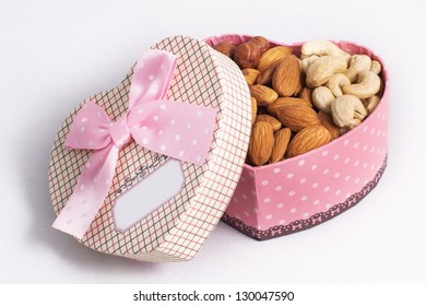 Nuts in a gift box