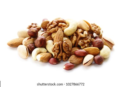 nuts mix for a healthy diet (cashew, pistachios, hazelnuts, walnuts, almonds)