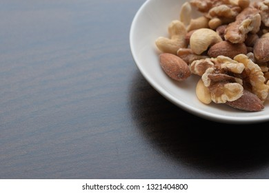 nuts on the plate