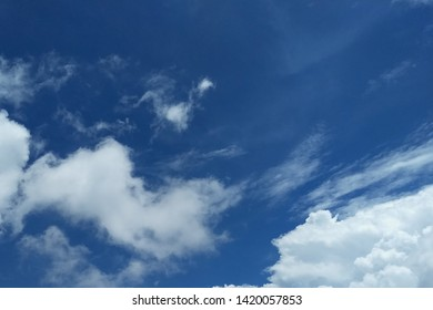 Nuture beautiful blue sky and white cloud background,Have copy space.