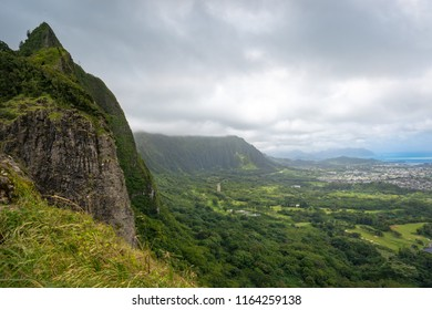 Nuuanu Pali Lookout Oahu, Hawaii (Pali Lookout)
