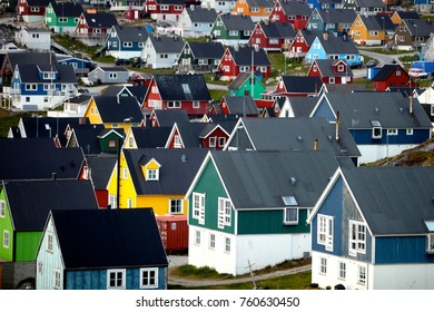 Nuuk City - capital of Nuuk.