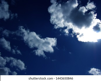 Nuve white on blue sky covers sunlight generally a wonderful effect