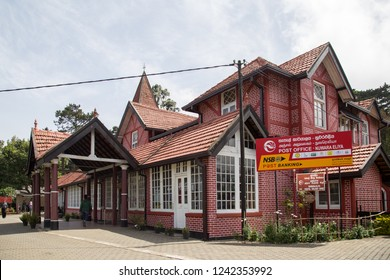 Nuwara Eliya, Sri Lanka - August 6, 2018: Exterior view of the post office building, one of the oldest post offices in Sri Lanka