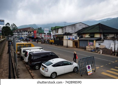 NUWARA ELIYA, SRI LANKA - DECEMBER 2012: View of city street