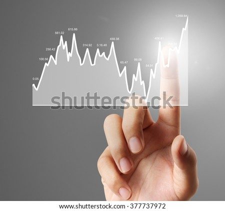 Nvestment Concept Financial Chart Symbols Coming Stock Photo Edit
