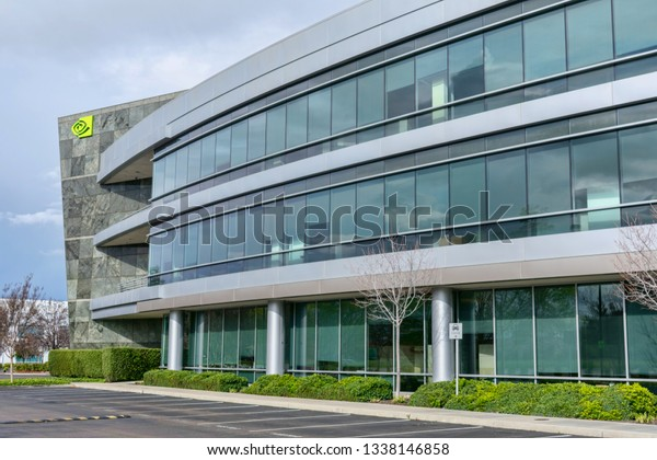 Nvidia Headquarters Office Silicon Valley Nvidia Stock Photo