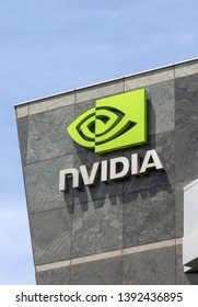 NVidia Signage, SANTA CLARA, CA – May 6, 2019: An Image of NVidia's signage at located at the Santa Clara, California Campus found in the heart of Silicon Valley.