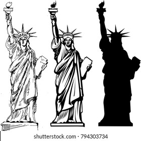 NY tourism. Statue of Liberty. New York and American symbol