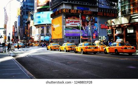 NY, NY /USA - March 8 2011: Times Square, Manhattan NY