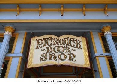 NYACK, NY - JUNE 20, 2017: Pickwick Book shop on S Broadway in Nyack. Editorial use only.