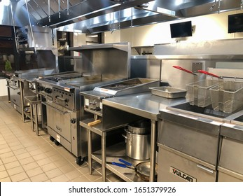 Nyack, NY / United States - Feb. 19, 2020: Commerical kitchen