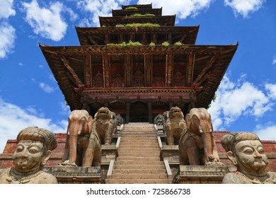 Nyatapola Temple close up, Bhaktapur, Nepal. (31-08-2017)