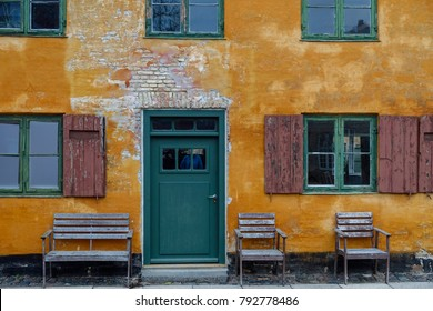 Nyborder district in Copenhagen, Condominium for sailors of the Danish fleet, built 1631-41.Denmark, Scandinavia, Europe