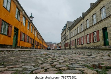 Nyborder district in Copenhagen, Condominium for sailors of the Danish fleet, built 1631-41.Denmark, Scandinavia, Europe, 19. November 2014