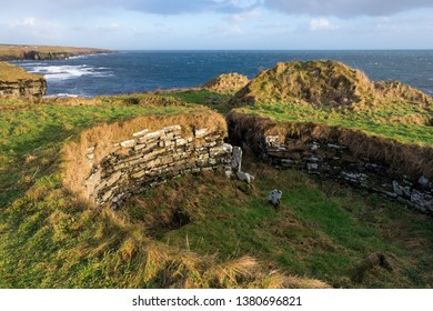 Nybster broch (site of ruins) interior