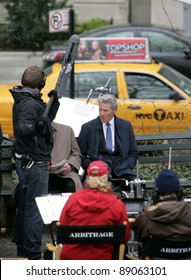 """NYC - APRIL 14: Actor Richard Gere on the set of his latest movie, Arbitrage,"""" currently being filmed in New York City on Wednesday, April 14, 2011."""