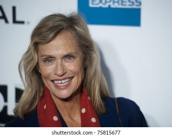 """NYC - APRIL 20 - iconic model Lauren Hutton arrives for the opening night of the Tribeca Film Festival and world premier of """"The Union"""" on April 20, 2011 in New York City, NY"""