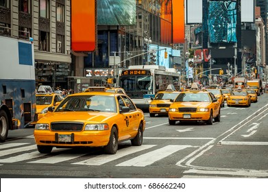 NYC Cabs,Taxi,New York, America, Times Square, USA