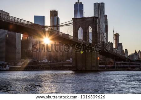 Nyc New York Brooklyn Bridge New Stock Photo Edit Now 1016309626
