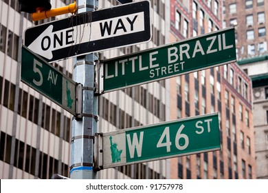 NYC street signs, New York.