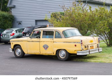 NYC Taxi Historical Car at Sagamore Hill National Historic Site in September 13th 2015