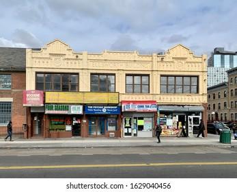NYC/USA - January 28, 2020: Brooklyn Street View, New York City, USA