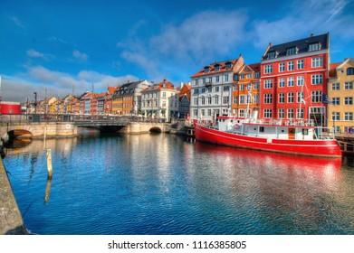 Nyhavn Harbor in Copenhagen