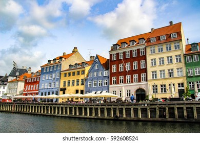 Nyhavn is a waterfront, canal and entertainment district in Copenhagen, Denmark.