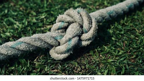 A nylon made boundary ropes isolated unique photo