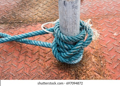 Nylon rope tied with steel core